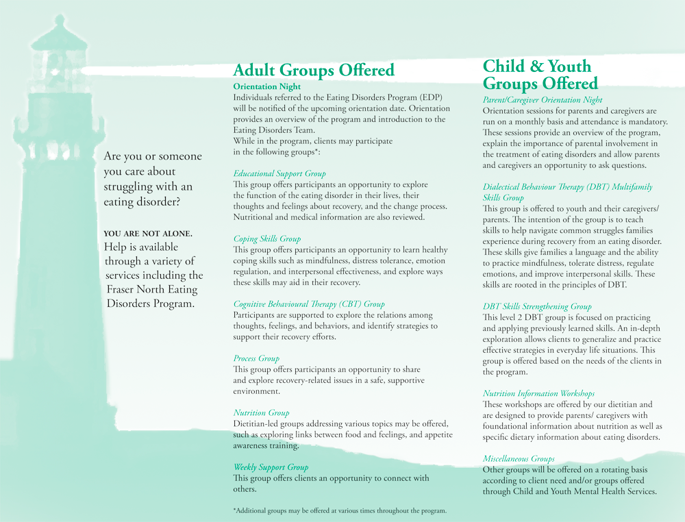 Inside of North Clinic brochure